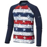 Columbia Boy's Sandy Shores Print Long-Sleeve Sunguard Shirt