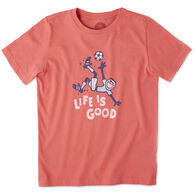 Life is Good Boys' Jumping Soccer Crusher Short-Sleeve T-Shirt