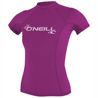 O'Neill Women's Basic Skins Crew Short-Sleeve Rashguard