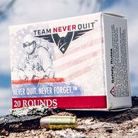 Team Never Quit 380 Auto 75 Grain Frangible HP Reduced Ricochet Handgun Ammo (20)