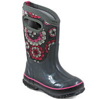 Bogs Girls' Classic Pansies Waterproof Insulated Winter Boot