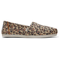 TOMS Women's Desert Tan Leopard Micro Fiber Classics Slip-On Shoe