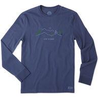 Life is Good Men's Mountain Bike Vista Crusher Long-Sleeve T-Shirt