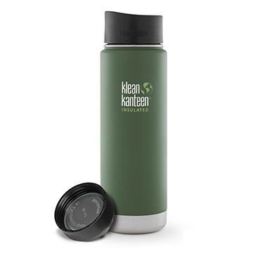 Klean Kanteen Vacuum Insulated Wide 20 oz. Stainless Steel Bottle w/ Cafe Cap 2.0