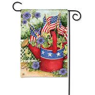 BreezeArt Patriotic Watering Can Garden Flag