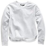 The North Face Girl's Logowear Long-Sleeve Crop Crew Top