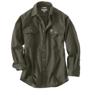 Carhartt Mens Big & Tall Sandstone Twill Long-Sleeve Shirt