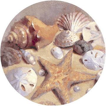 Thirstystone Sea Shells Coaster Set, 4-Piece