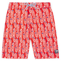 Tom & Teddy Men's Paprika & Blue Rowan Boardshort
