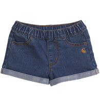Carhartt Toddler Girl's Denim Short