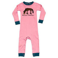 Lazy One Infant Girls' Pasture Bedtime Unionsuit