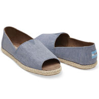 TOMS Women's Open Toe Alpargata Slip-On Shoe
