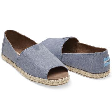 TOMS Womens Open Toe Alpargata Slip-On Shoe