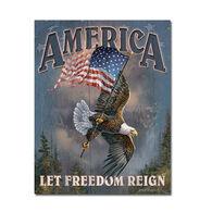 Desperate Enterprises Let Freedom Reign Tin Sign