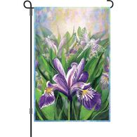 Premier Designs Blue Iris Garden Flag