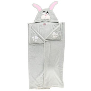 Lazy One Kids Bunny Critter Hooded Blanket