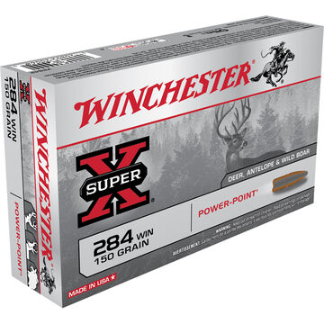 Winchester Super-X 284 Winchester 150 Grain Power-Point Rifle Ammo (20)