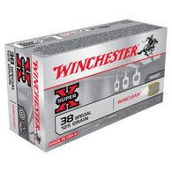 Winchester Super-X 38 Special 125 Grain WinClean JSP Handgun Ammo (50)