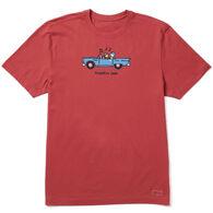 Life is Good Men's Jake and Rocket Traffic Jam Vintage Crusher Short-Sleeve T-Shirt