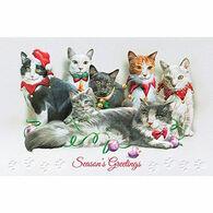 Pumpernickel Press Festive Felines Deluxe Boxed Greeting Cards