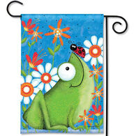 BreezeArt Frog Fun Garden Flag