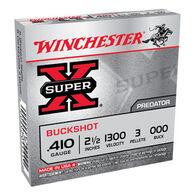 "Winchester Super-X 410 GA 2-1/2"" 3 Pellet #000 Buckshot Ammo (5)"