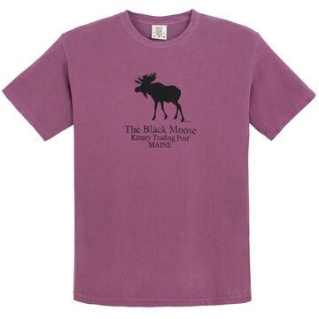 Original Design Mens Kittery Trading Post Black Moose Short-Sleeve T-Shirt