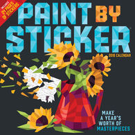 Paint by Sticker 2018 Wall Calendar by Workman Publishing