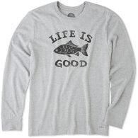 Life is Good Men's LIG Fish Crusher Long-Sleeve T-Shirt