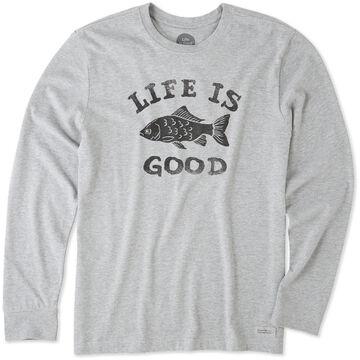 Life is Good Mens LIG Fish Crusher Long-Sleeve T-Shirt
