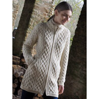 Aran Crafts Women's Long Plated Sweater Coat