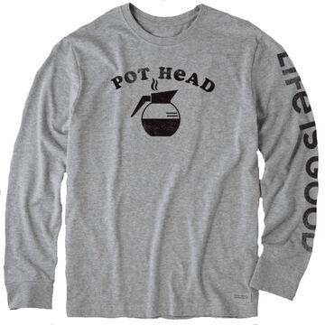Life is Good Mens Pot Head Crusher Long-Sleeve T-Shirt
