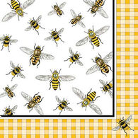 Paperproducts Design Honey Bees Beverage Napkin