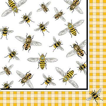 Paperproducts Design Honey Bees Beverage Napkin