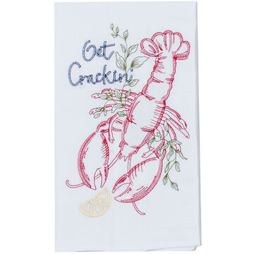 Kay Dee Designs Get Crackin Embroidered Flour Sack Towel