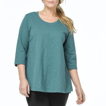 Habitat Womens A-Line Crew 3/4-Sleeve Shirt
