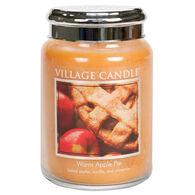 Village Candle Large Glass Jar Candle - Warm Apple Pie