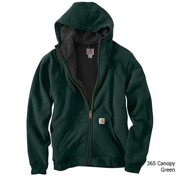 Carhartt Mens Collinston Brushed Fleece Sherpa-Lined Sweatshirt
