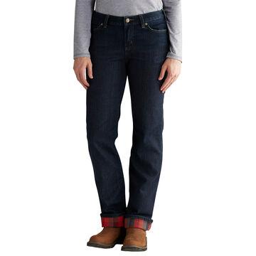 Carhartt Womens Original Fit Blaine Flannel-Lined Jean