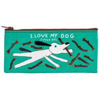 Blue Q Women's I Love My Dog Zipper Pencil Case