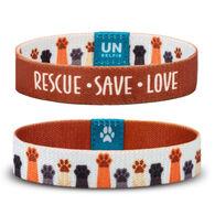 Unselfie Women's Rescue Paw Prints Wrist Band