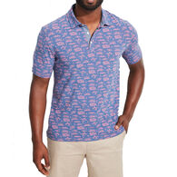 Vineyard Vines Men's Printed Edgartown Short-Sleeve Polo Shirt