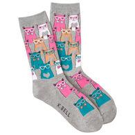 K. Bell Women's Smarty Cat Sock
