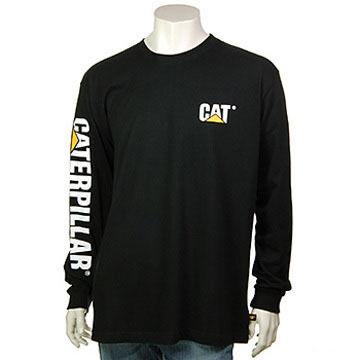 CAT Apparel Mens Trademark Banner Long-Sleeve T-Shirt