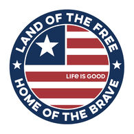 Life is Good Land Of The Free Coin Magnet