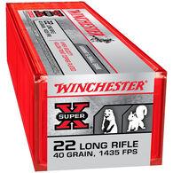 Winchester Super-X 22 LR 40 Grain HP Rimfire Ammo (100)