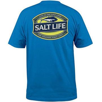 Salt Life Mens Life in the Cast Lane Pocket Short-Sleeve T-Shirt