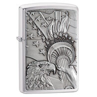 Zippo Patriotic Eagle Brushed Chrome Windproof Lighter