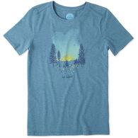 Life is Good Women's Meadow Sunset Cool Short-Sleeve T-Shirt