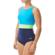 TYR Sport Women's Splice Belted Controlfit Swimsuit